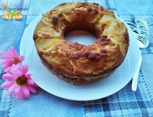 Ciambella con ananas sciroppato e yogurt