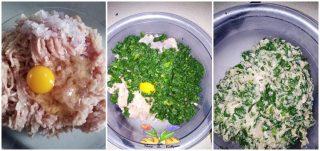 fagottini di coniglio con spinaci