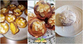 muffin con zucca cioccolato e mandorle