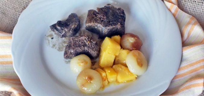 spezzatino con cipolline borettane e patate