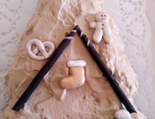 Alberello di Natale con mousse al cioccolato