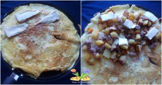 omelette con patate e brie