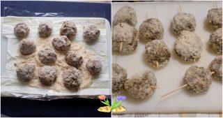 spiedini di polpette con cotechino e lenticchie