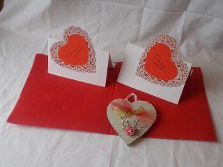 segnaposti per San Valentino