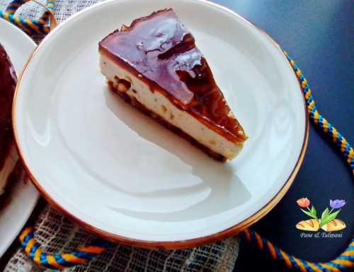 Cheesecake al torrone e tarassaco