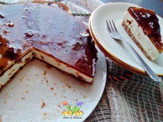 cheesecake al torrone e tarassaco