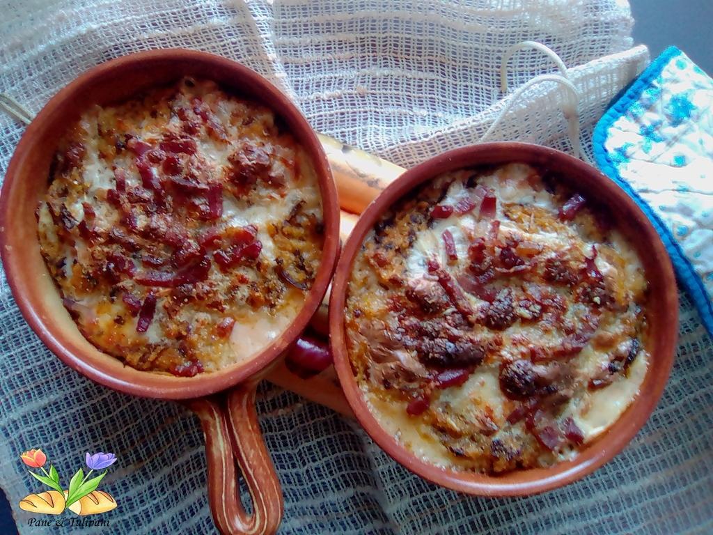 polenta al forno con verza
