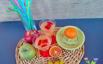 Acqua detox con spremuta di arance
