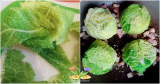 fagottini di verza con cotechino e crema
