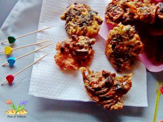 frittelle speziate di zucchine e silene.