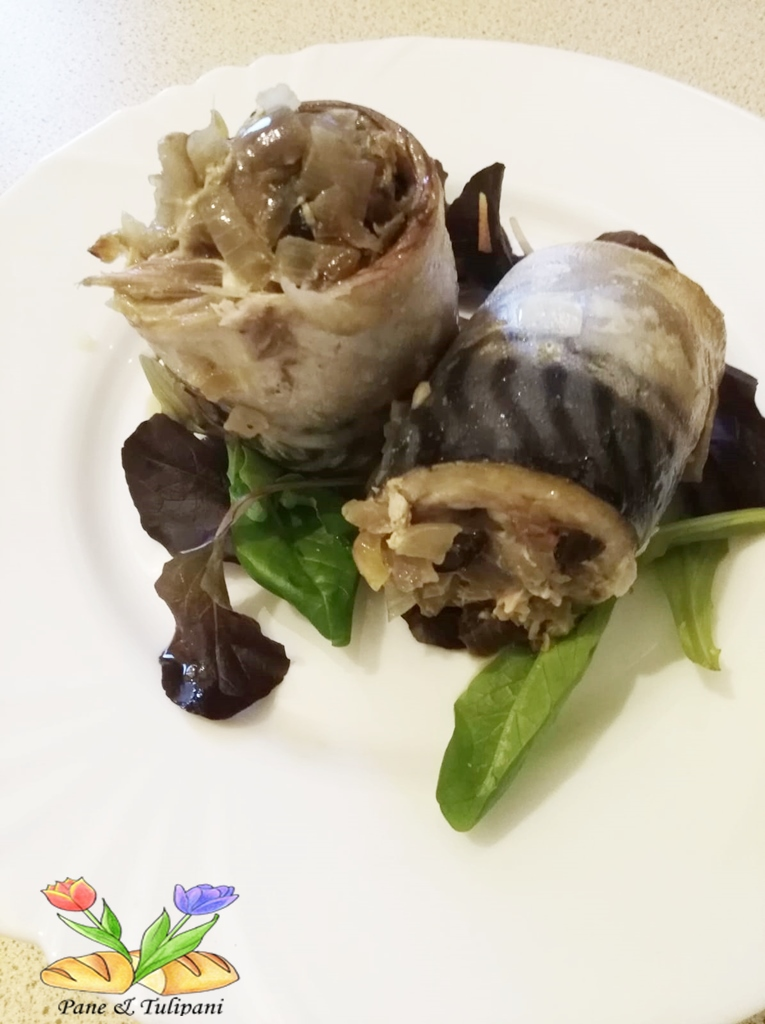 involtini di filetti di sgombri