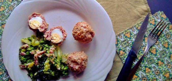 bomboloni di agnello con uova di quaglia