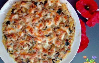 pizza di patate con tonno