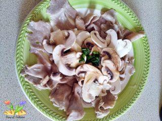 carpaccio di tonno con funghi