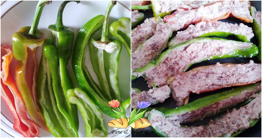 friggitelli con ricotta e salsiccia