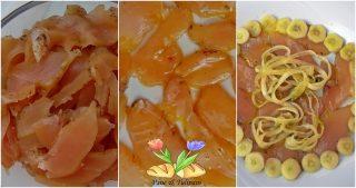 petto di pollo aromatico con spaghetti di cetrioli