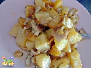 patate con pioppini di bosco