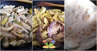 piadina con pollo e melanzane