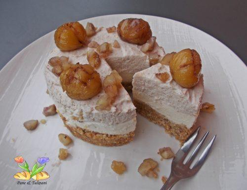 Cheesecake con castagne.