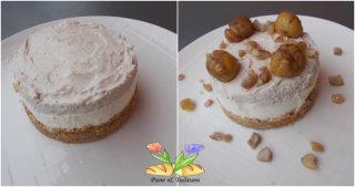 cheesecake con castagne