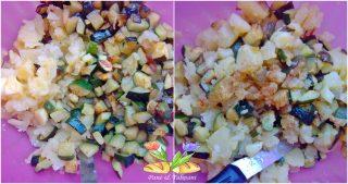 corona di patate con pasta di salame
