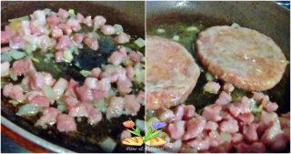 hamburger con gorgonzola e frutta secca