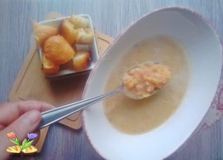 zuppa di lenticchie rosse decorticate