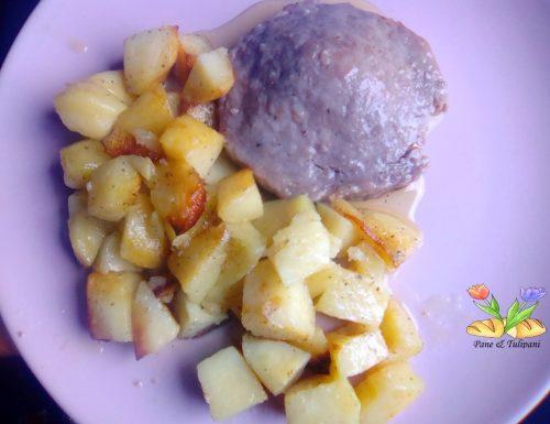Medaglioni di pasta di salame con patate