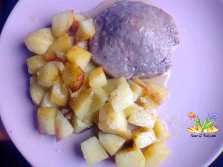 medaglione di pasta di salame con patate