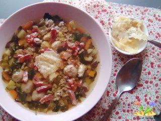 minestra maritata rivisitata con rostì di parmigiano