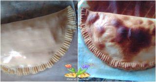 strudel salato con cavolfiore e provola