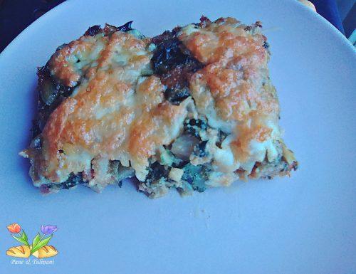 Coste gratinate con pancetta e mozzarella