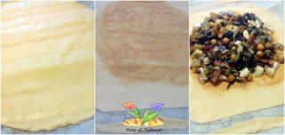 torta salata con coste e speck