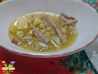 La Zuppa di sfilacci di lesso con ceci