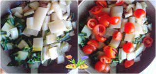 coste stufate in padella con pomodorini
