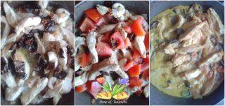 straccetti di pollo speziato con porcini
