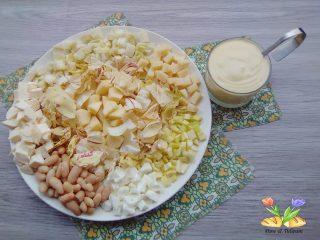 insalata dei bianchi con noci