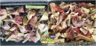 teglia di baccalà al forno con carciofi e funghi porcini