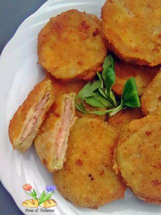 sandwich di melanzane con prosciutto e provolone