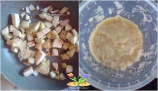 risotto con bacon e crema di melanzane