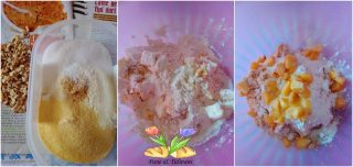 torta sbrisolona con pesche e noci