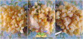 tortino con fagiolini e prosciutto
