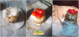 .tortino con fagiolini e prosciutto