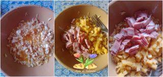 calotte con riso mortadellae mozzarella