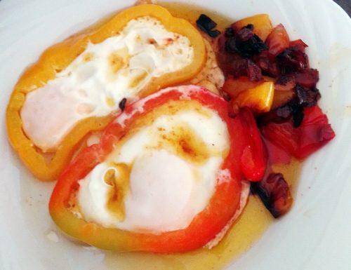 Uova ingabbiate nel peperone