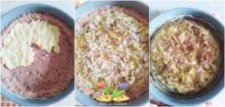 crostata di carne con patate e porri
