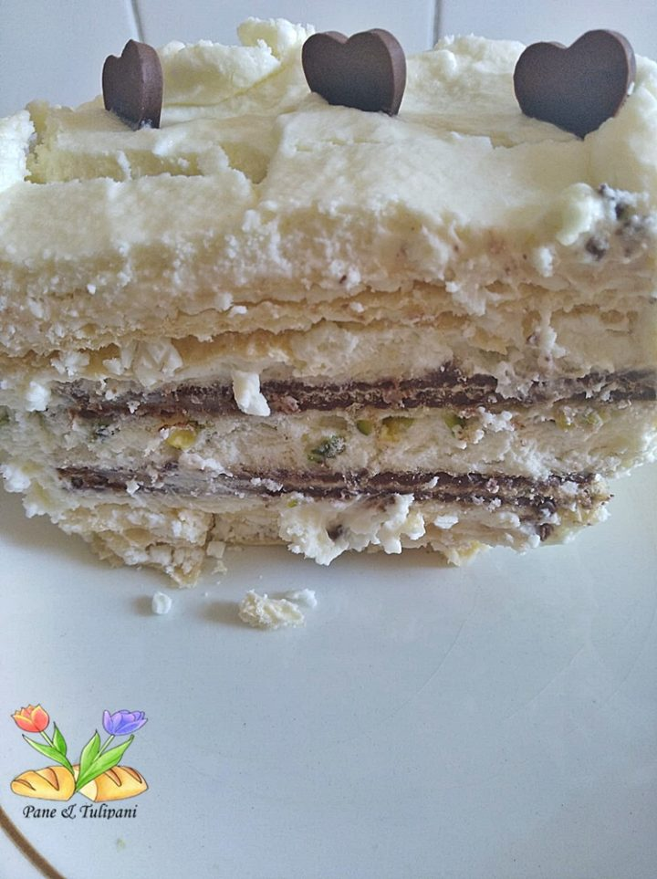 dolce bianco con wafer