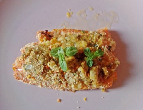 Salmone con crumble cotto in airfreyer