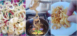 spaghetti di patate e zucchine