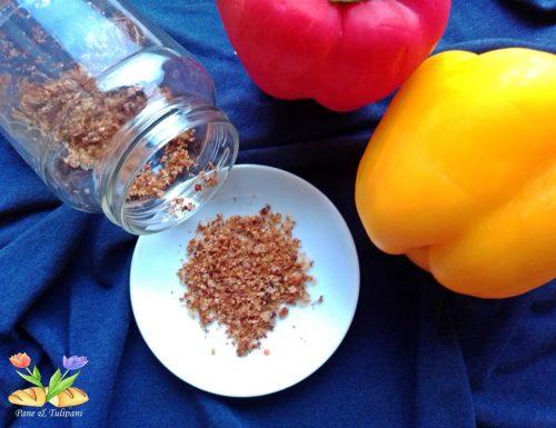 Bucce essiccate di peperoni.